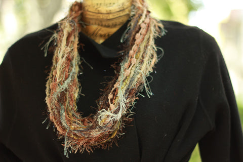 Earthtone Fiber Necklace