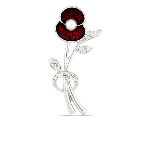 The Poppy Collection ® Poppy and Pearl Brooch