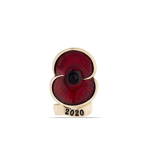 Poppy Collection 2020 Lapel Pin Gold Tone