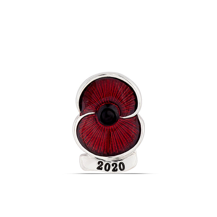Poppy Collection 2020 Lapel Pin Silver Tone