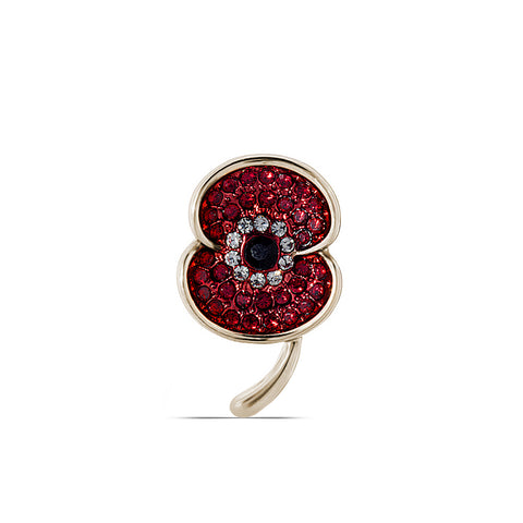 The Poppy Collection ® Vintage Lapel Pin Gold Tone