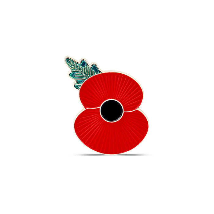 Magnetic Ridge Poppy Lapel Badge