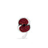 The Poppy Collection ® Swirl Lapel Pin Silver Tone