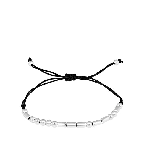 Morse Code Remember Black Friendship Bracelet