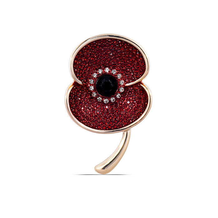The Poppy Collection ® Vintage Poppy Brooch Medium Gold Tone