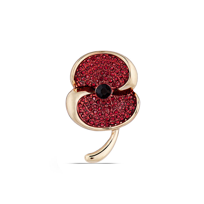 The Poppy Collection ® Swirl Brooch Gold Tone