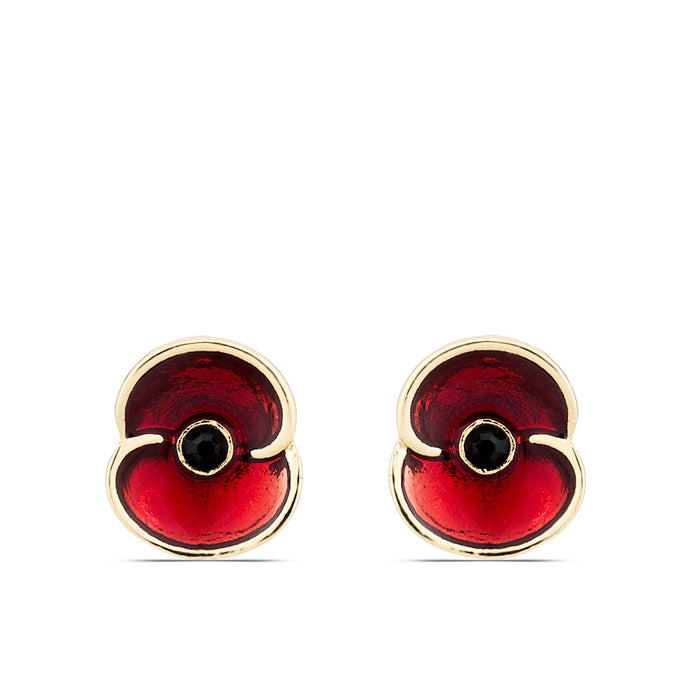 The Poppy Collection ® Enamel Earrings Gold Tone