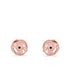 Rose Gold Petaled Poppy Earrings