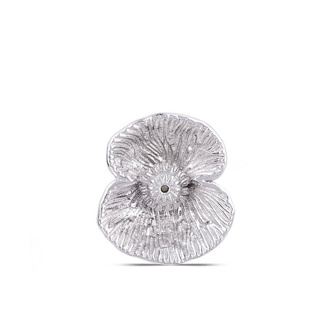 Textured Sterling Silver Poppy Pin