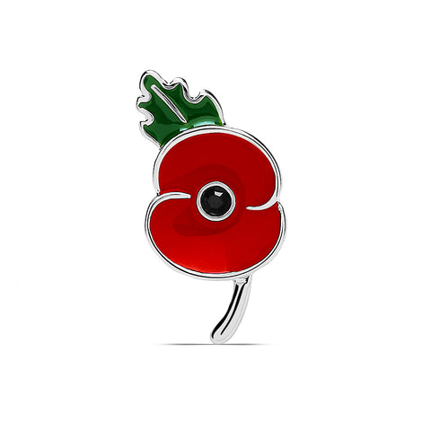 The Poppy Collection ® Lapel Pin Badge with Leaf