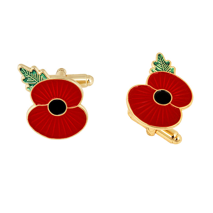 Ridge Poppy Cufflinks