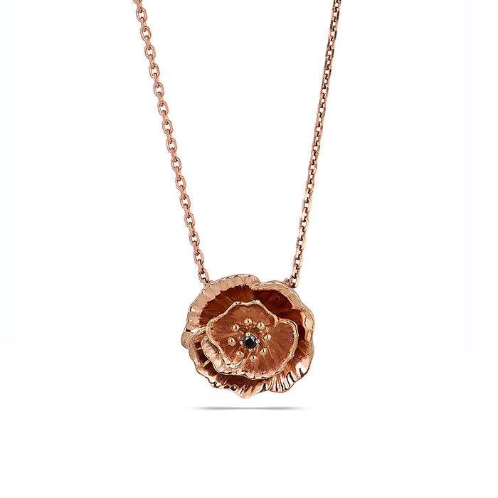 Poppy Rose Gold Necklace