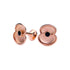 Brushed Rose Gold Gentlemen's Cufflinks