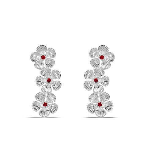 Poppy Chain Climber Earrings