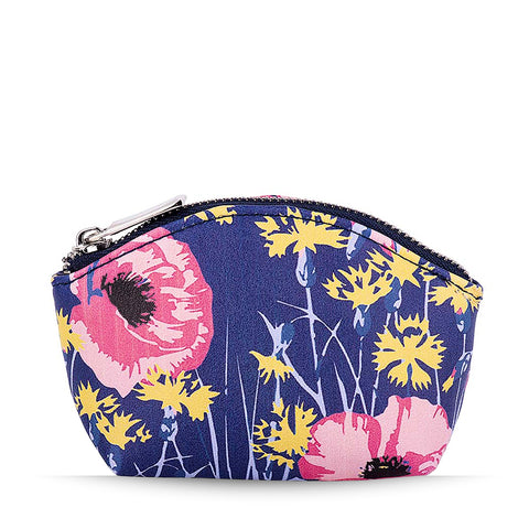 Blue Poppy Meadow Coin Purse