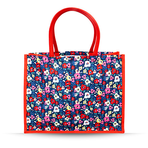 Large Ditsy Poppy Bag