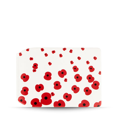 Falling Poppy Travel Wallet