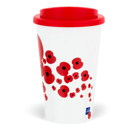 Falling Poppy Travel Mug
