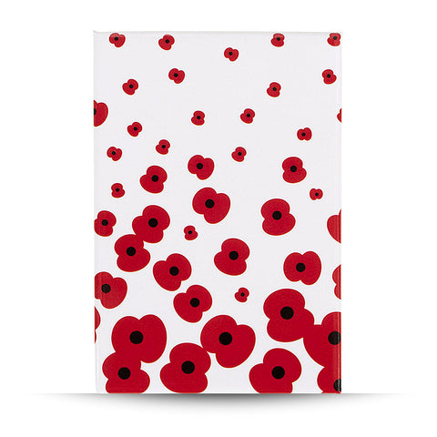 Falling Poppy Fridge Magnet