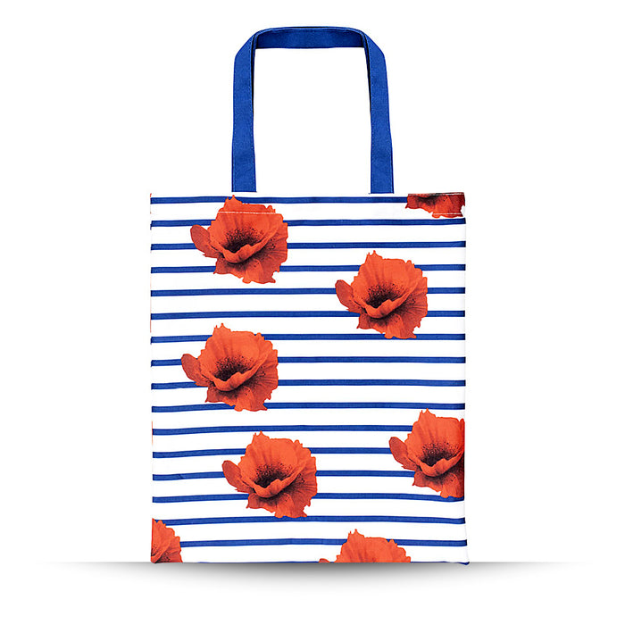 Striped Poppy RPET Tote Bag