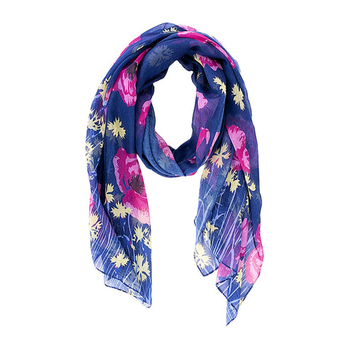Blue Poppy Meadow Scarf