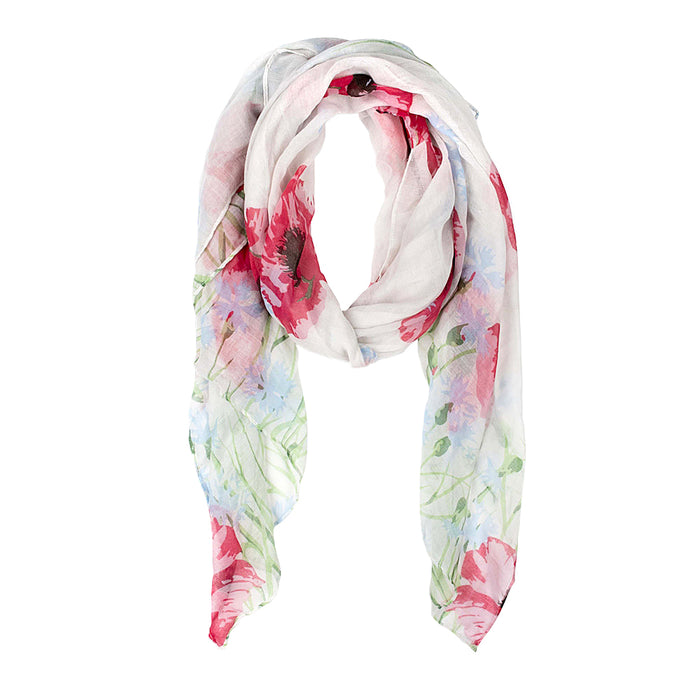 Meadow Poppy Scarf