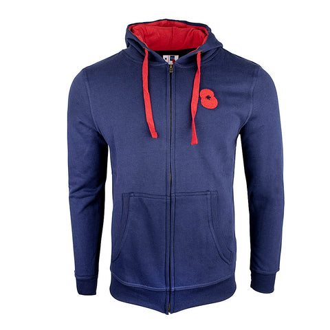 Poppy and Union Flag Zipped Hoodie