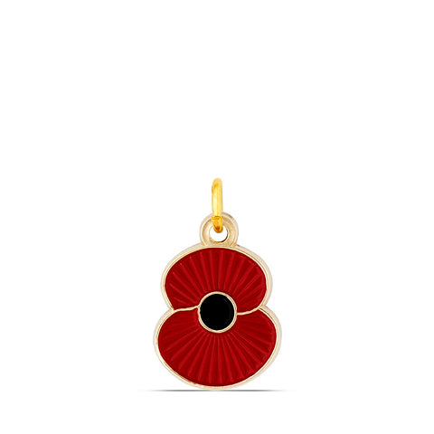 Ridged Poppy Pet Tag - Small