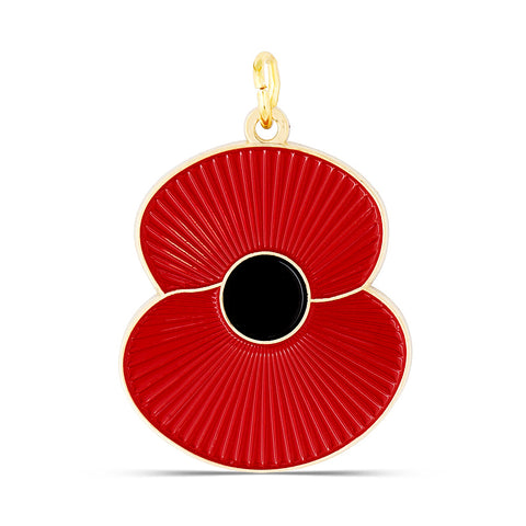 Ridged Poppy Pet Tag - Large