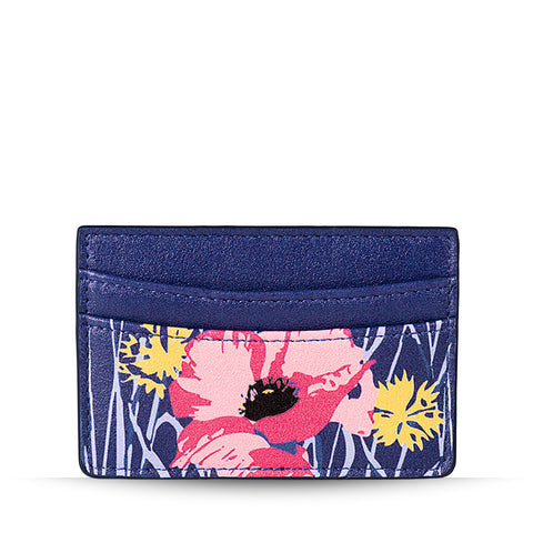 Blue Poppy Meadow Card Holder