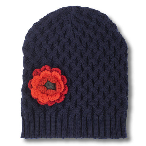 Hat with Poppy Detail