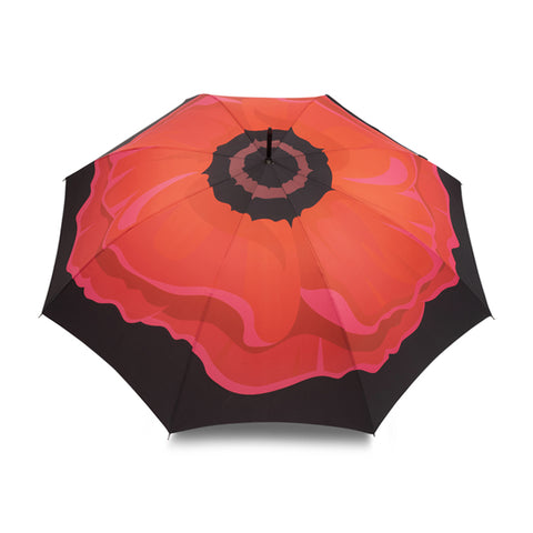 Blooming Poppy Large Auto Open Umbrella