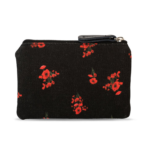 Lesley Sharp Trailing Poppies Coin Purse