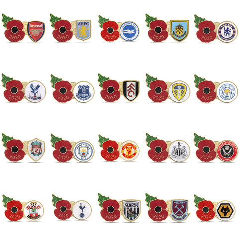 Premier League Poppy Football Pins 2020