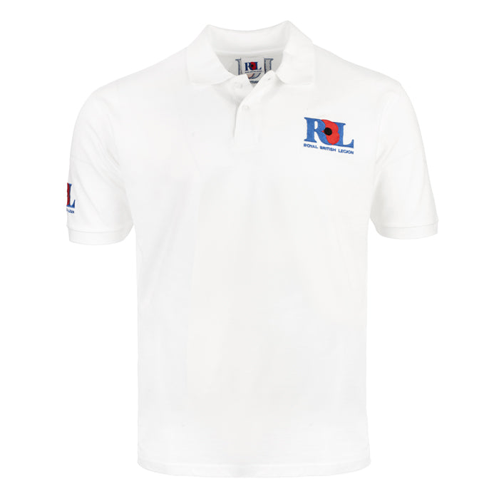 Royal British Legion White Polo Shirt
