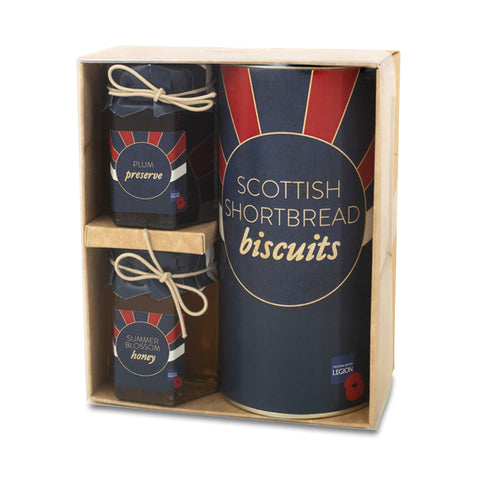 The Royal British Legion Poppy Jams & Biscuits Gift Set