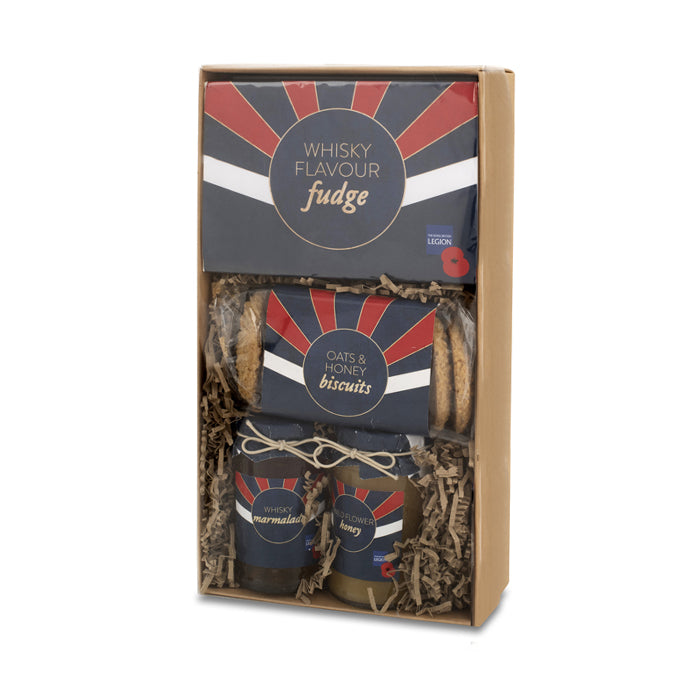 The Royal British Legion Poppy Whisky Fudge, Biscuits and Jams Set