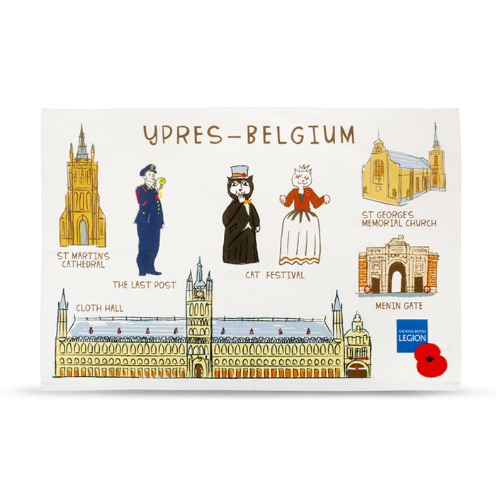Ypres Gift Shop Tea Towel