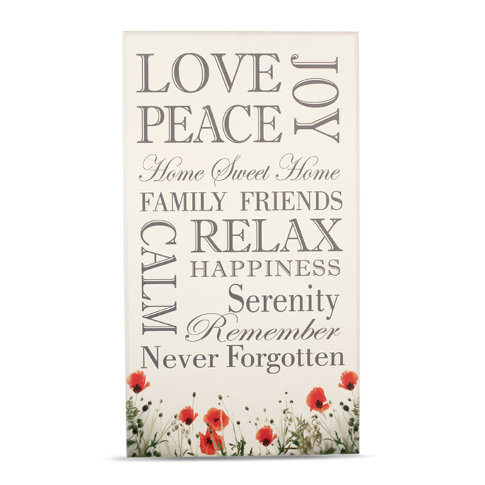 Wild Poppy Wall Plaque