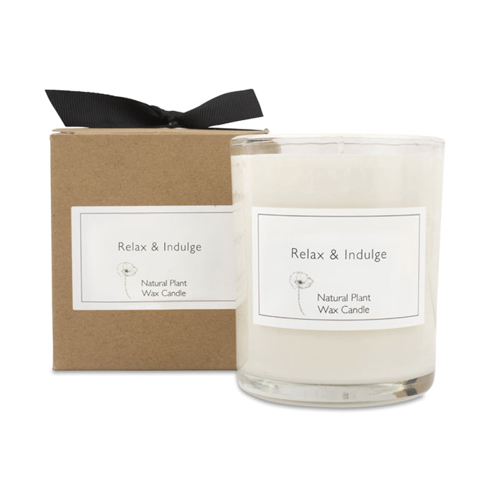 Relax & Indulge Candle with Gift Box & Bow