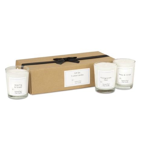 Candle Gift Set of 3 with Gift Box & Bow