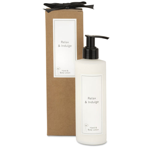 Relax & Indulge Hand and Body Pump Lotion with Gift Box