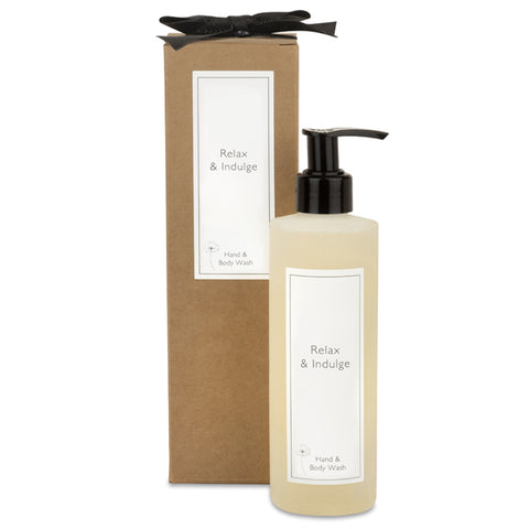 Relax & Indulge Soap Pump Bath and Shower Gel with Gift Box
