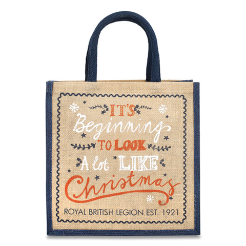 It's Beginning To Look A Lot Like Christmas Jute Gift Bag