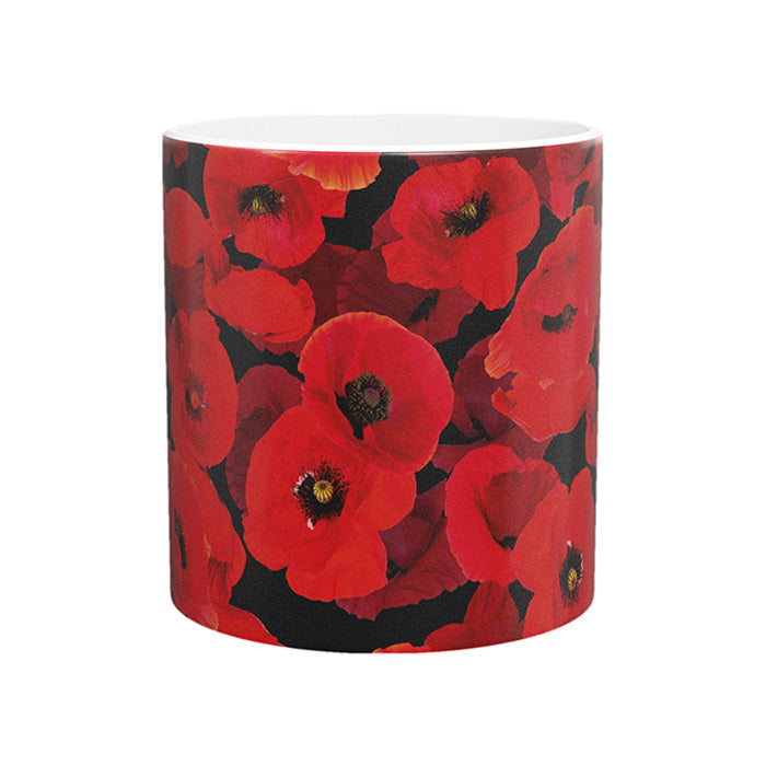 Floating Poppy Bone China Mug