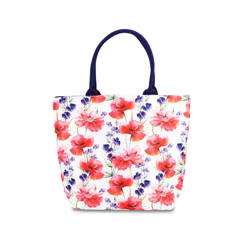 Floral Poppy Chain RPET Tote Bag