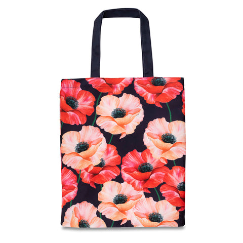 Poppy Floral RPET Tote Bag