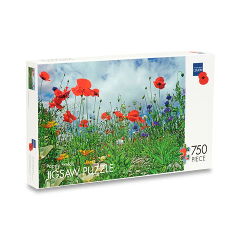 Wild Poppy Fields Jigsaw Puzzle