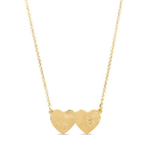 Lesley Sharp Love Hearts Poppy Necklace
