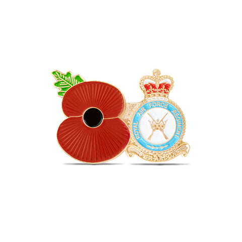 Service Poppy Pin RAF Regiment